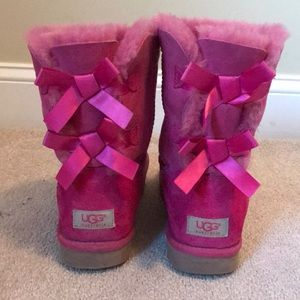 Pink Ugg Bailey Bow Boot